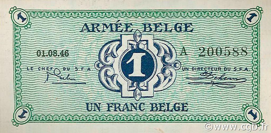 RECTO 1 franc Type 1946 Belgian Army