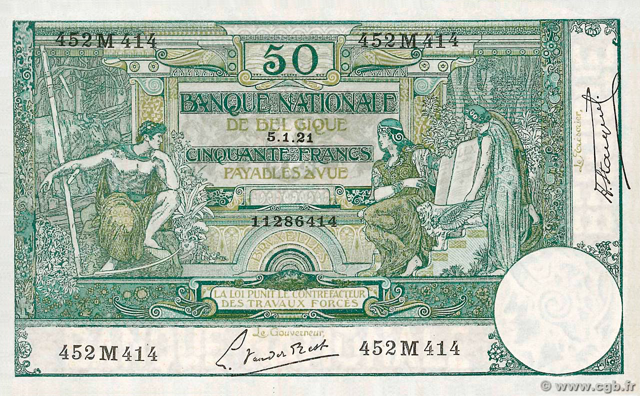 RECTO 50 francs Type 1909
