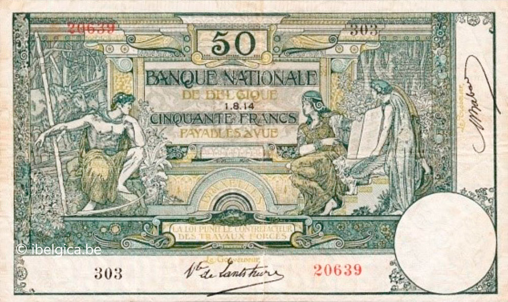 RECTO 50 francs Type 1914 Antwerp