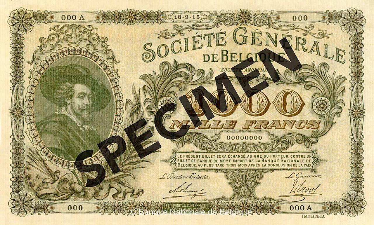 RECTO 1000 francs Type 1915 Société Générale