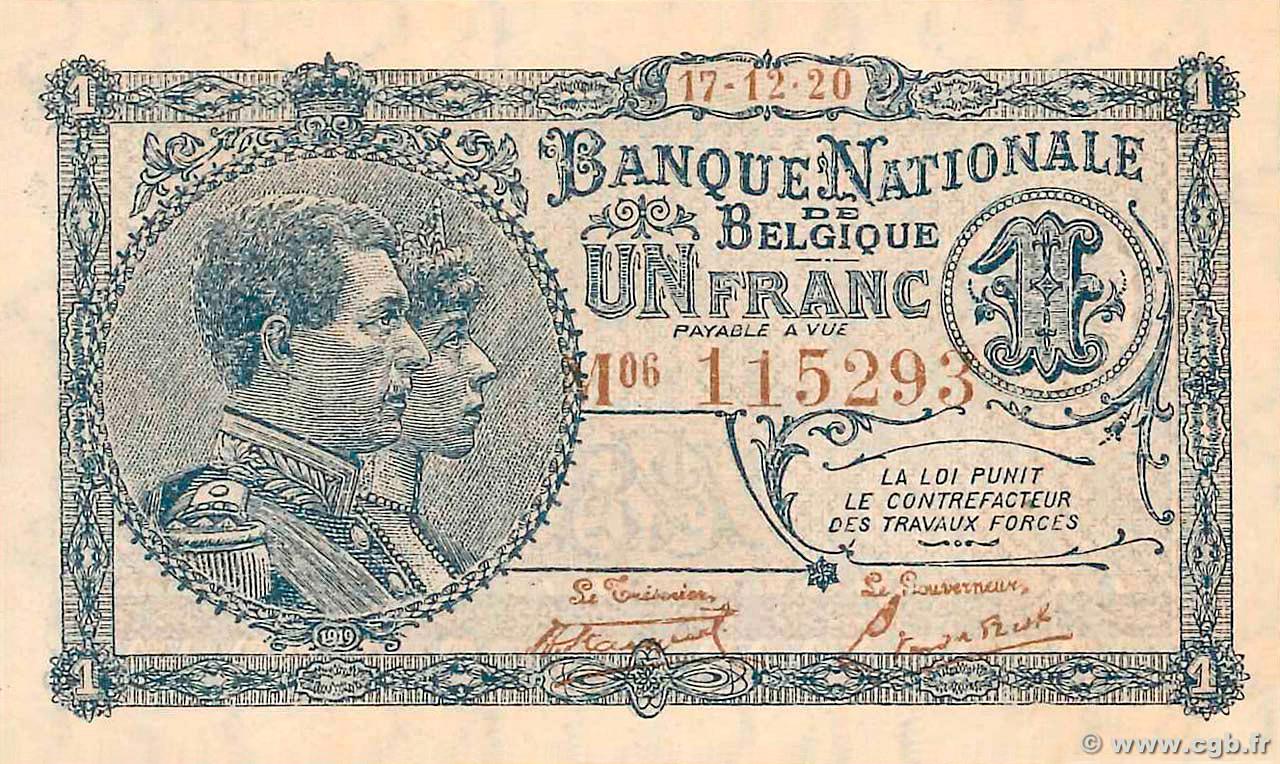 RECTO 1 franc Type 1920