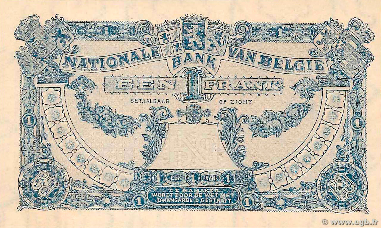 VERSO 1 franc Type 1920