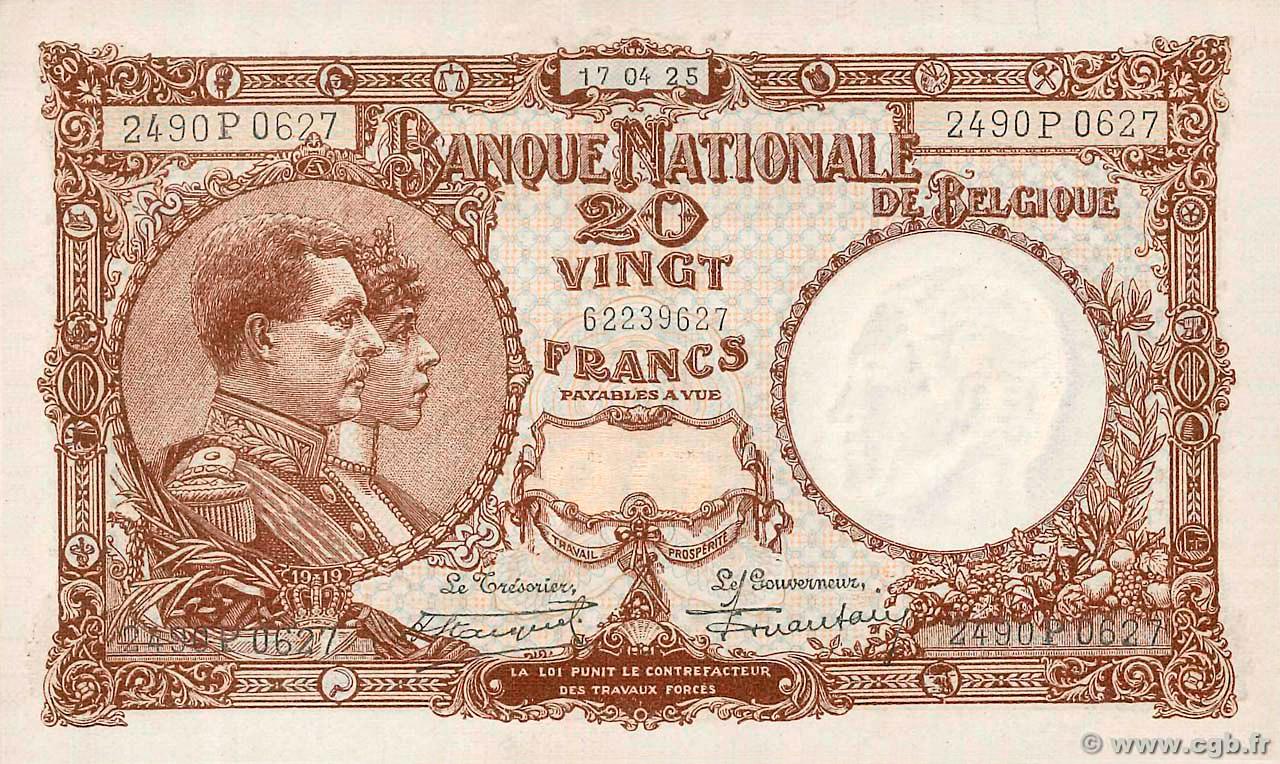 RECTO 20 francs Type 1921