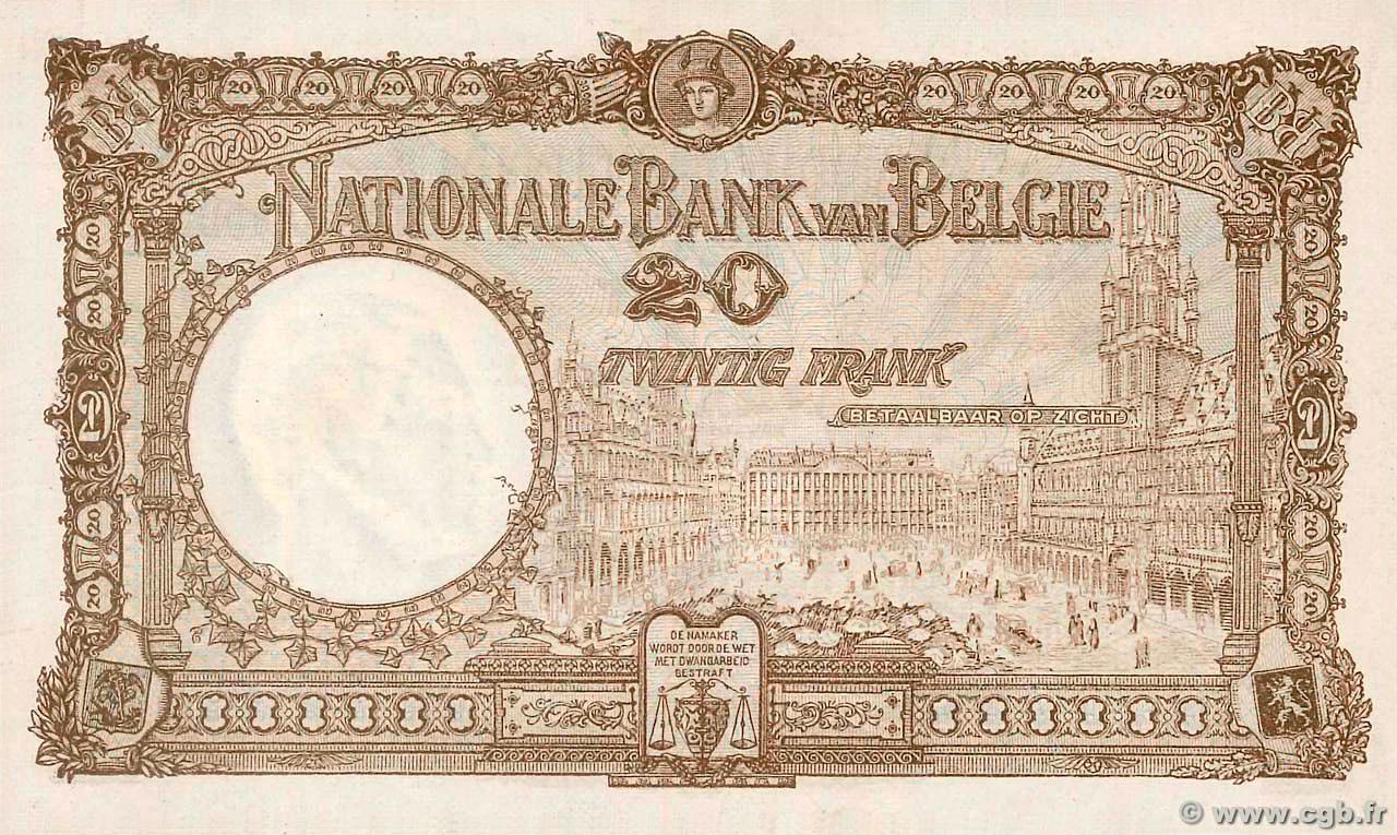 VERSO 20 francs Type 1921
