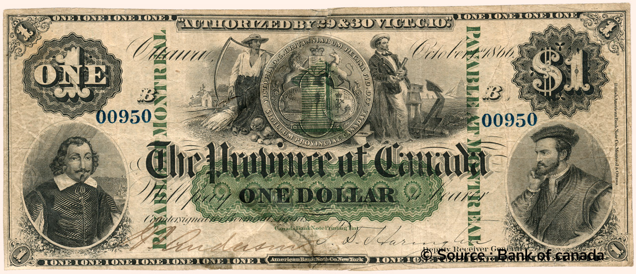 RECTO 1 Dollar Type 1866