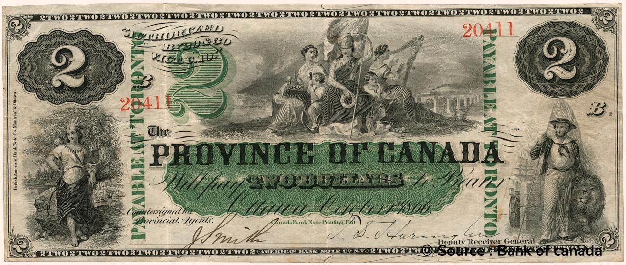 RECTO 2 Dollars Type 1866