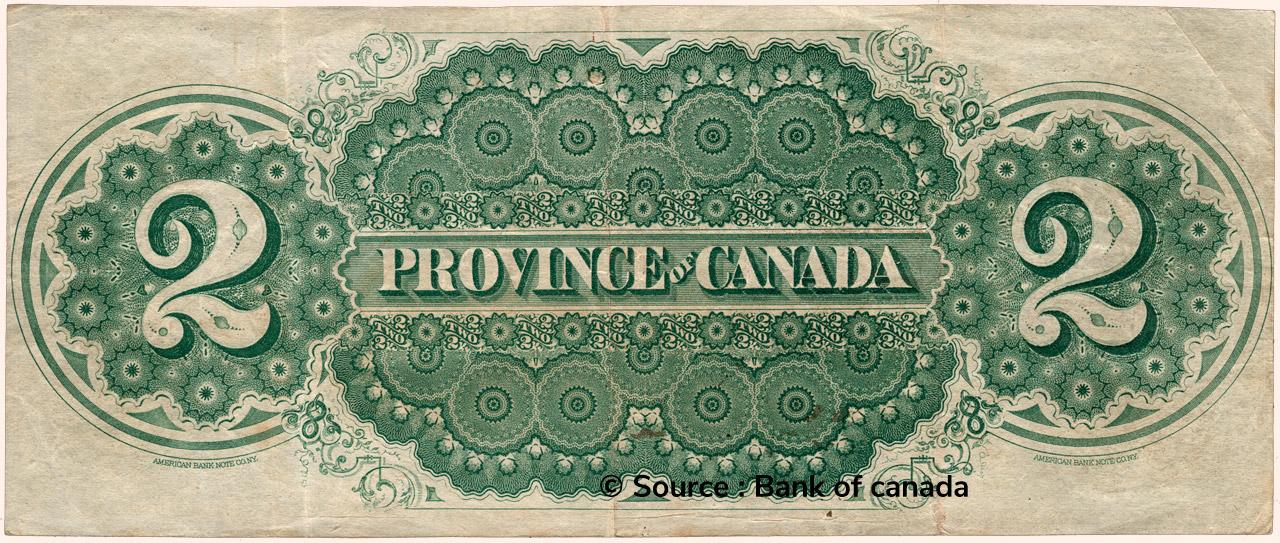 VERSO 2 Dollars Type 1866