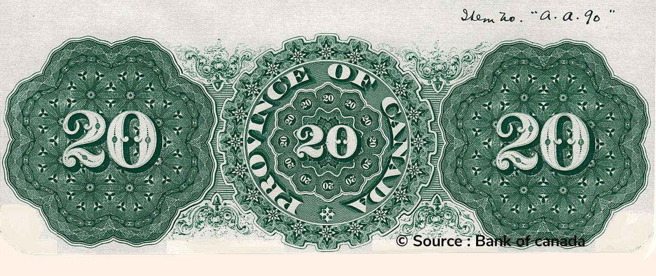 VERSO 20 Dollars Type 1866