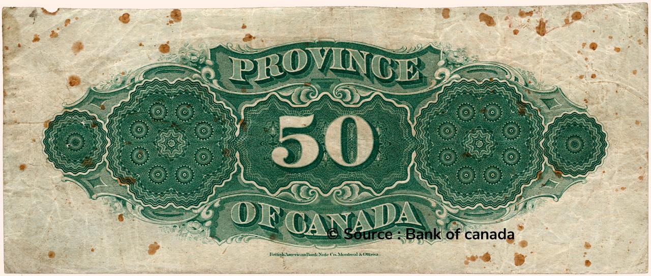 VERSO 50 Dollars Type 1866
