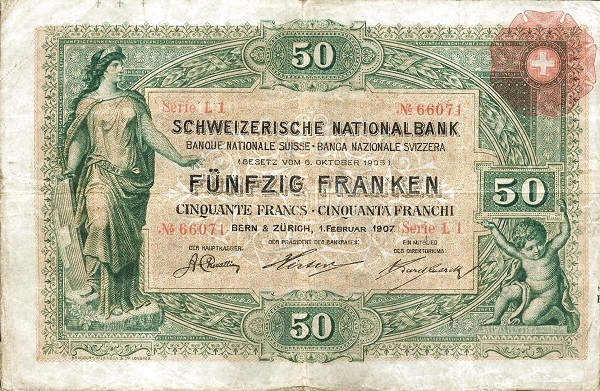 RECTO 50 francs Type 1907