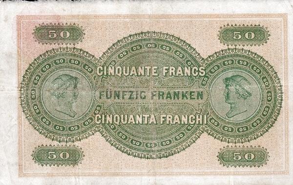 VERSO 50 francs Type 1907