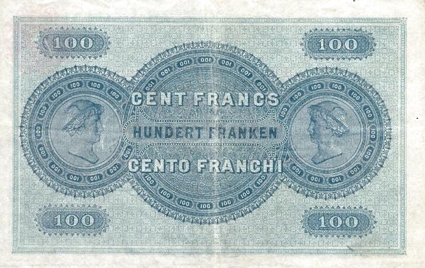 VERSO 100 francs Type 1907