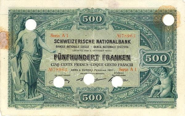 RECTO 500 francs Type 1907