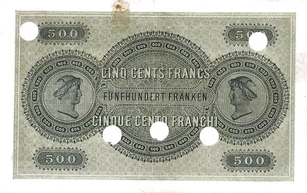 VERSO 500 francs Type 1907