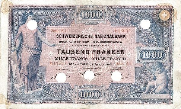 RECTO 1000 francs Type 1907