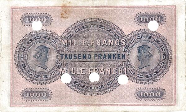 VERSO 1000 francs Type 1907