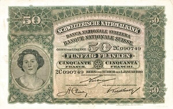 RECTO 50 francs Type 1910