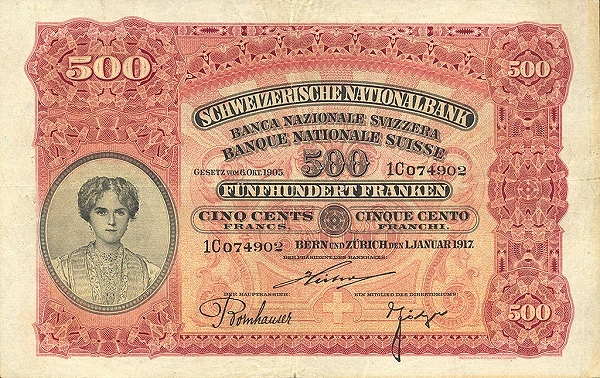 RECTO 500 francs Type 1910