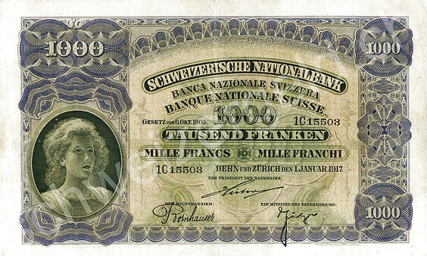 RECTO 1000 francs Type 1910