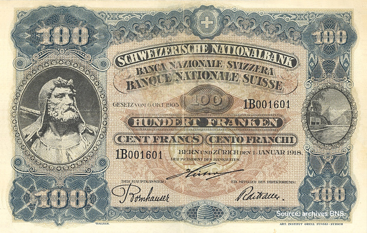 RECTO 100 francs Type 1918