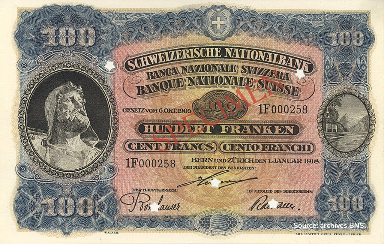 RECTO 100 francs Type 1918 not issued