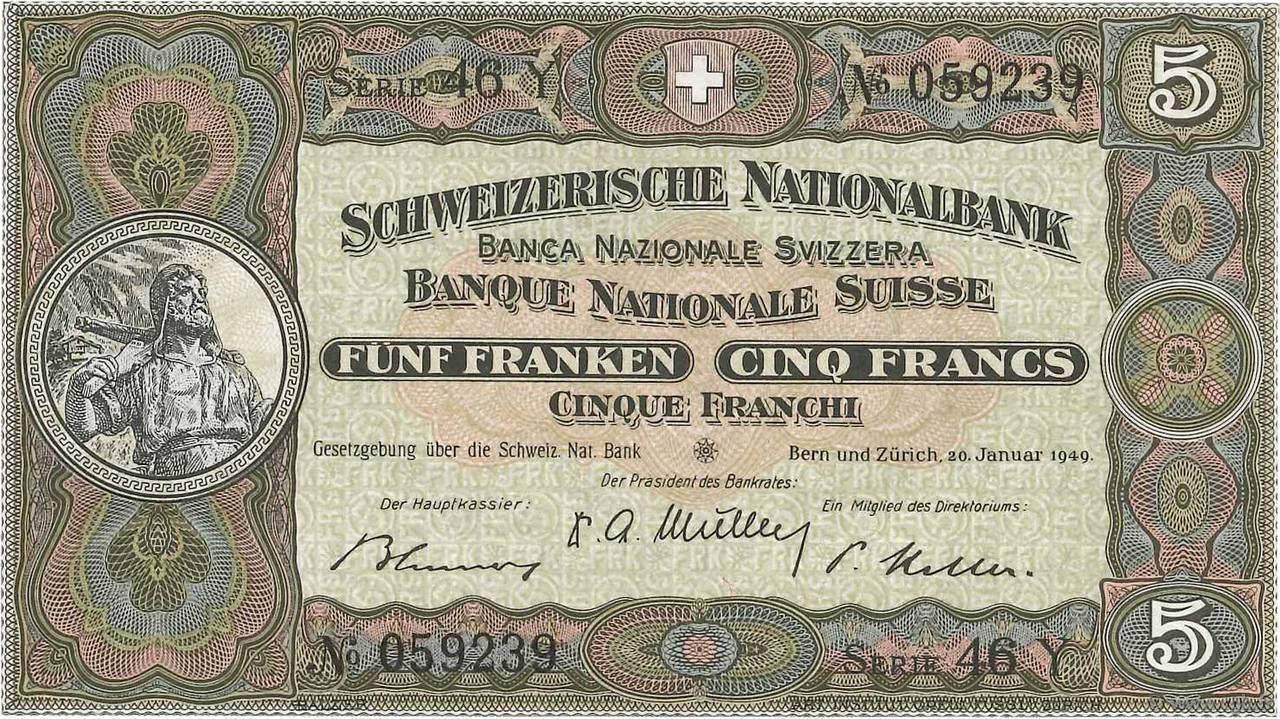 RECTO 5 francs Type 1913