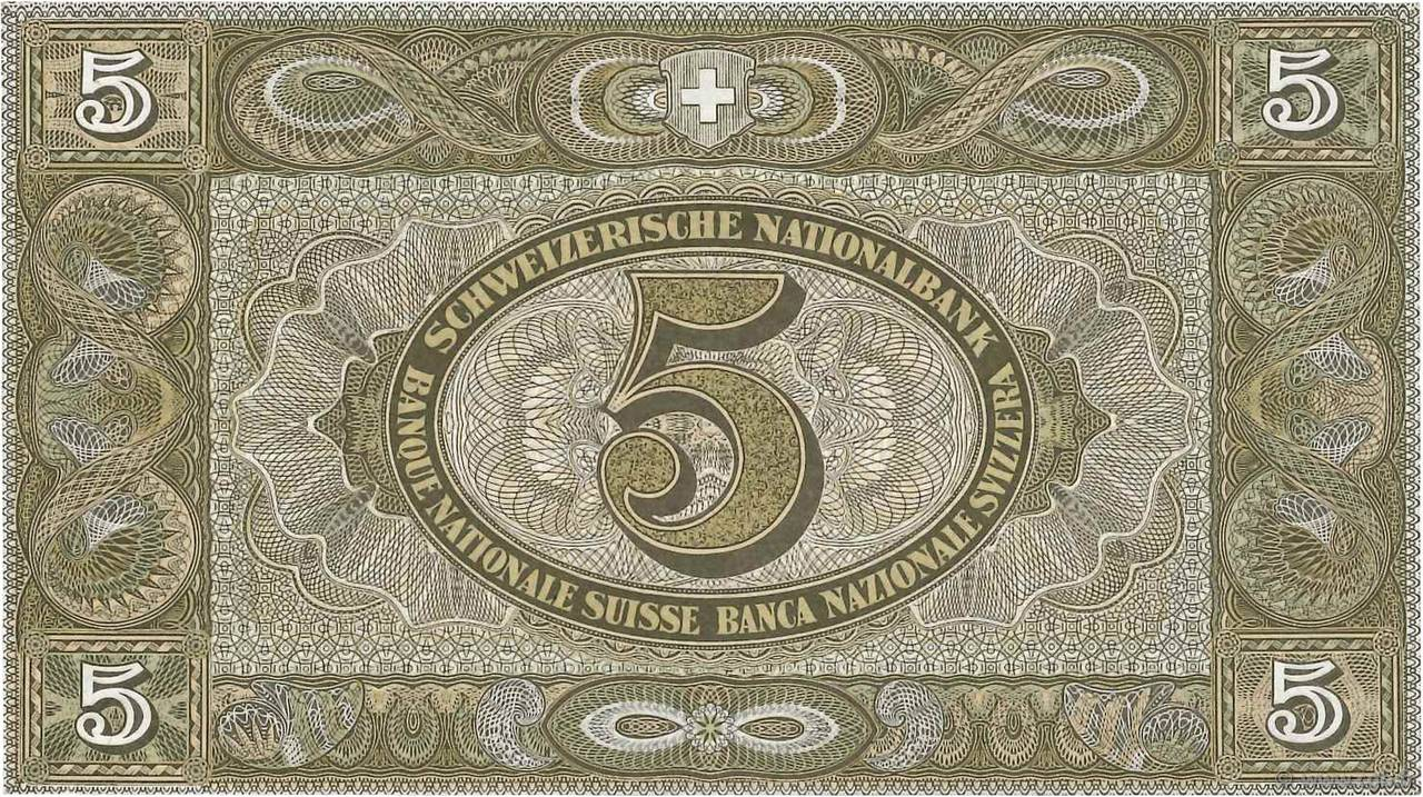 VERSO 5 francs Type 1913