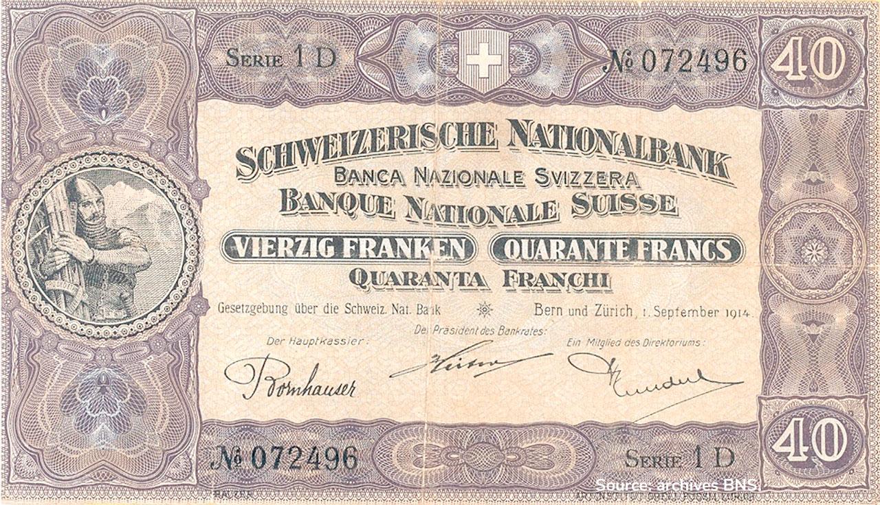 RECTO 40 francs Type 1914