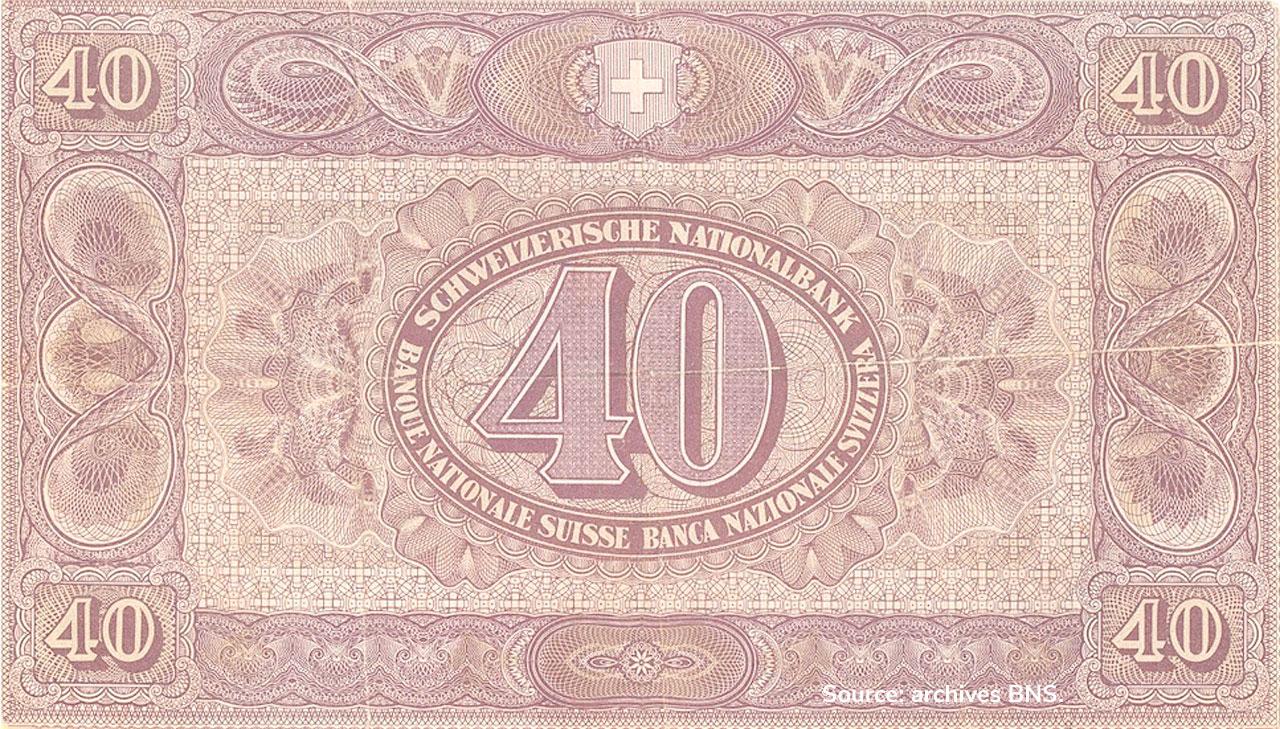 VERSO 40 francs Type 1914