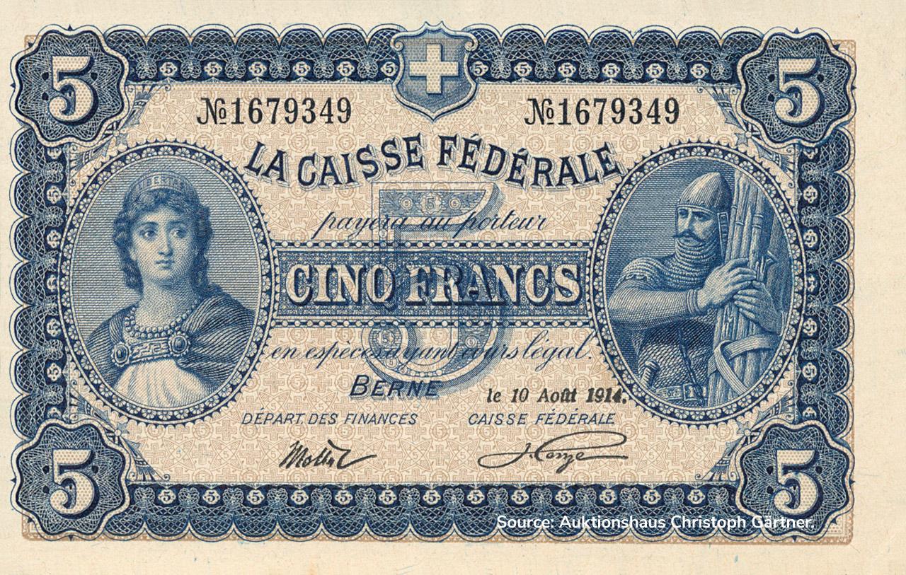 RECTO 5 francs Type 1914 (FR)