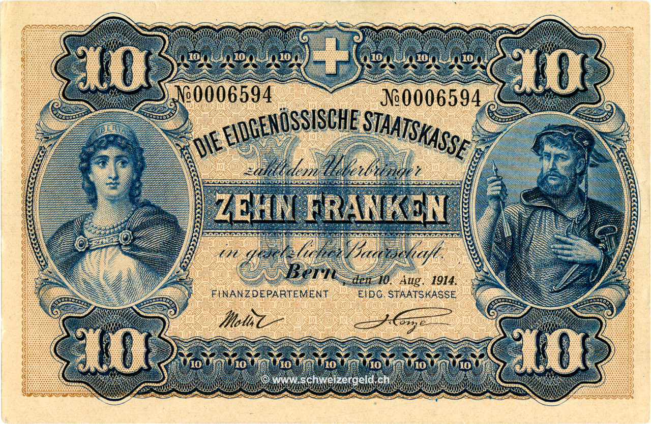 RECTO 10 francs Type 1914 (GE)