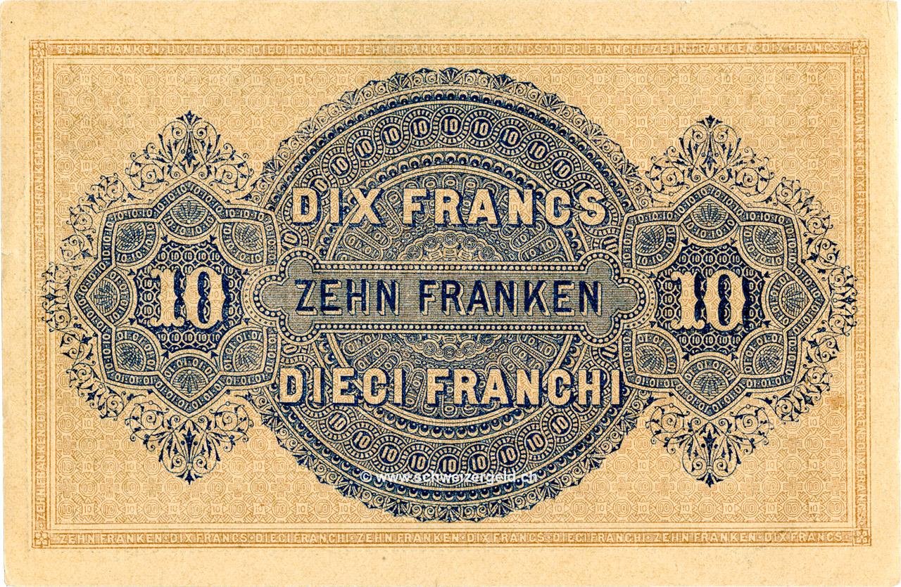 VERSO 10 francs Type 1914 (GE)