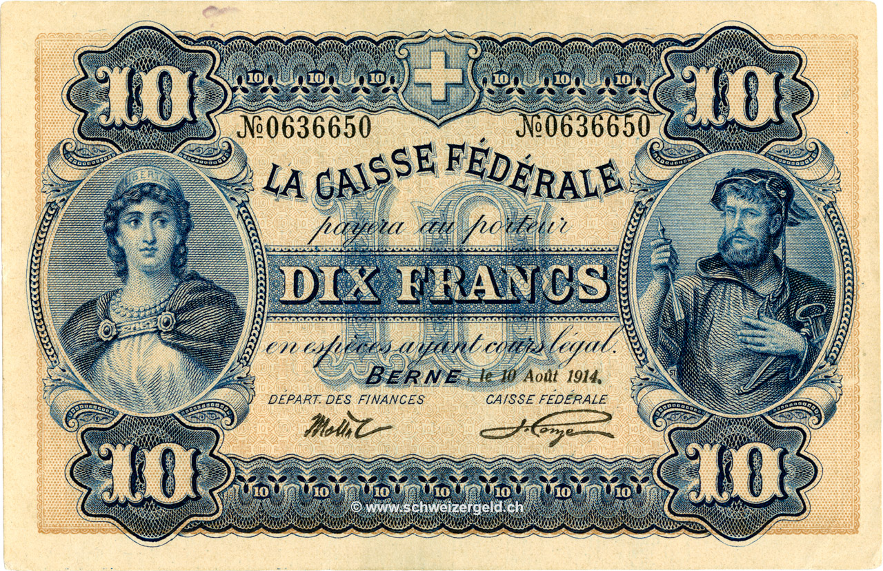 RECTO 10 francs Type 1914 (FR)