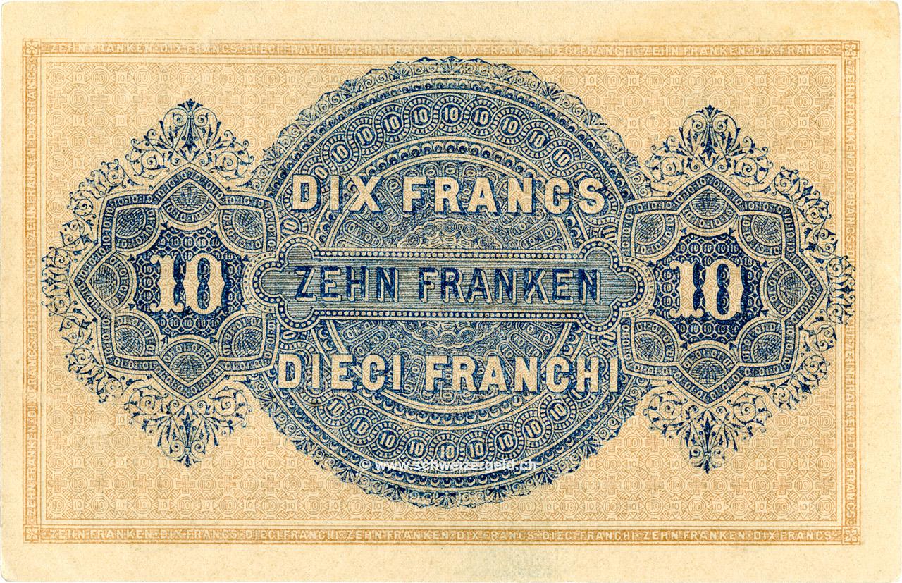 VERSO 10 francs Type 1914 (FR)