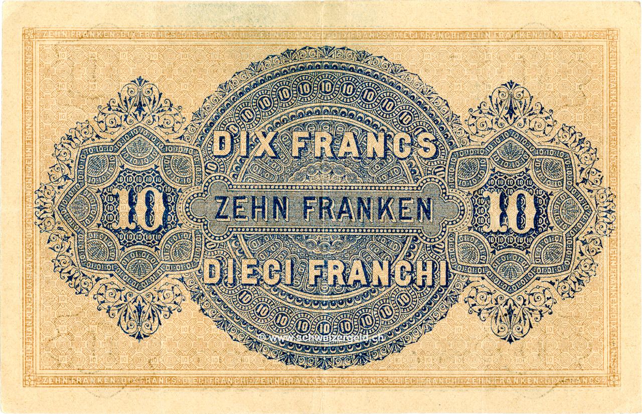 VERSO 10 francs Type 1914 (IT)