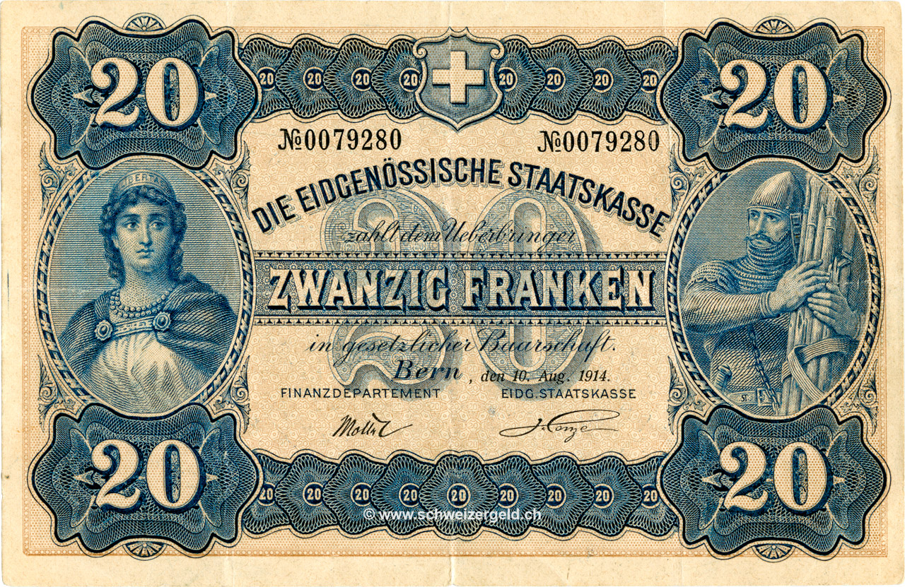 RECTO 20 francs Type 1914 (GE)