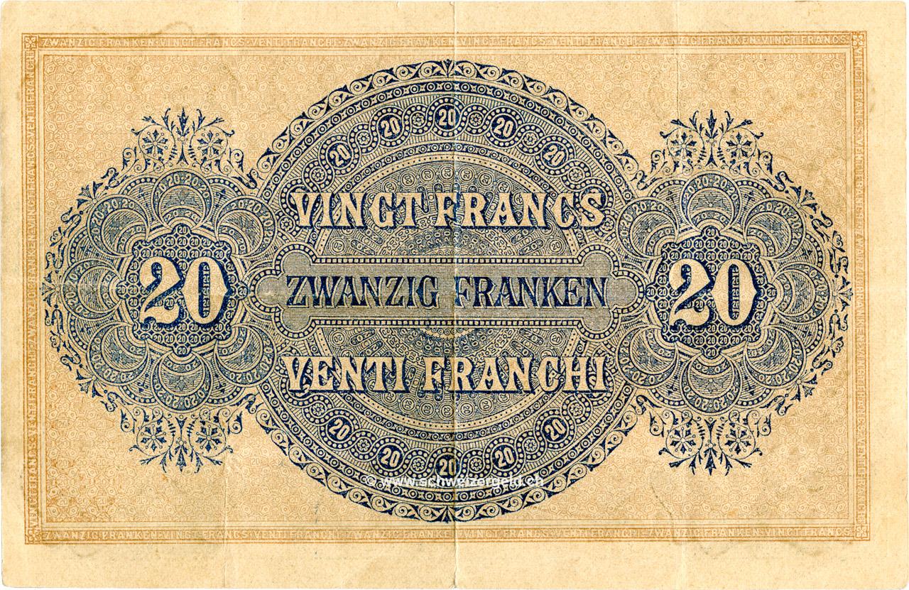 VERSO 20 francs Type 1914 (GE)