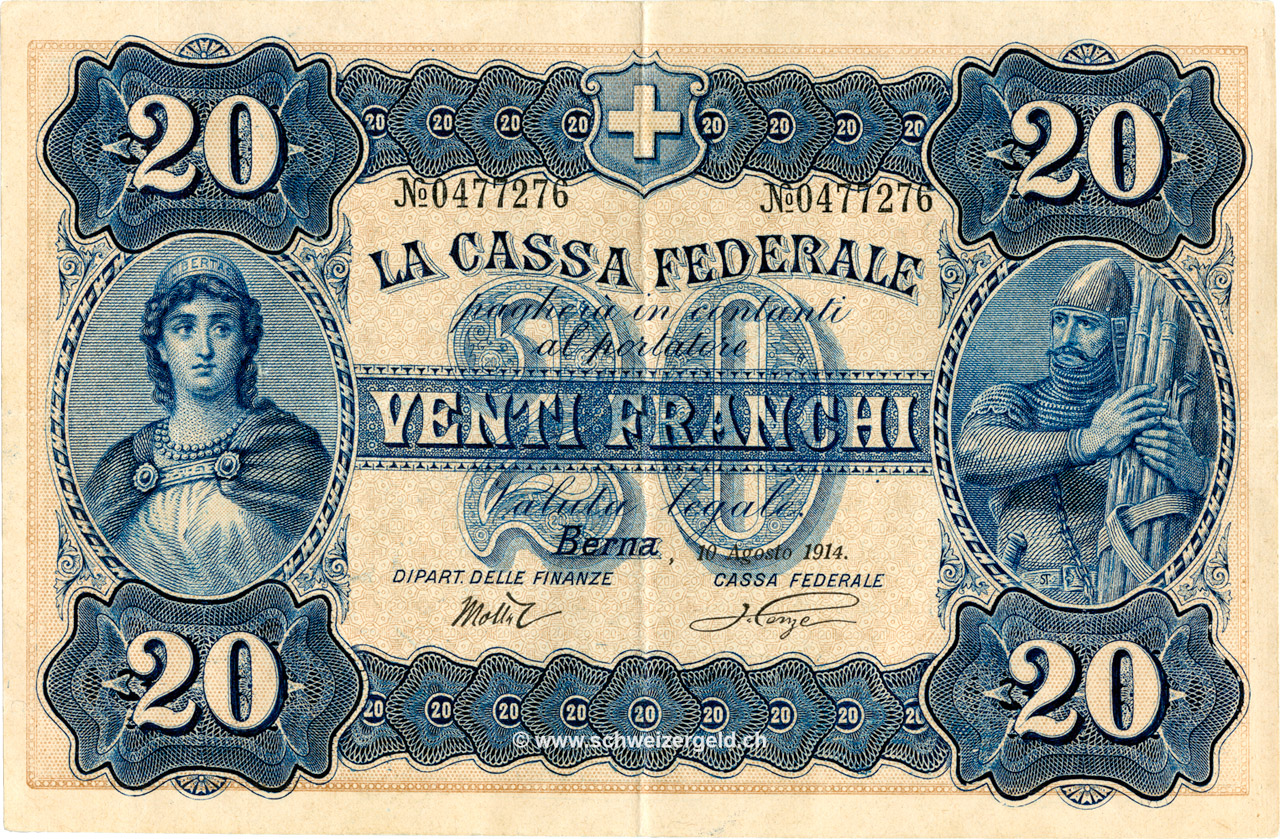 RECTO 20 francs Type 1914 (IT)