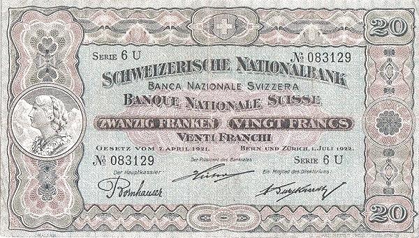 RECTO 20 francs Type 1922