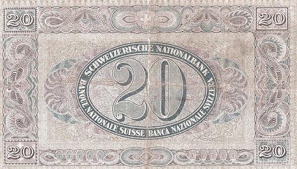 VERSO 20 francs Type 1922