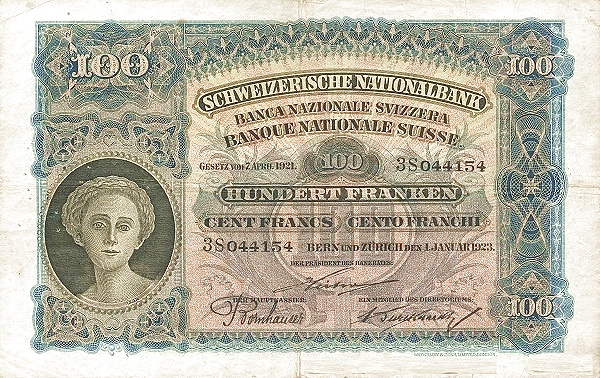 RECTO 100 francs Type 1923