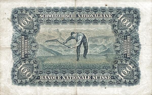 VERSO 100 francs Type 1923