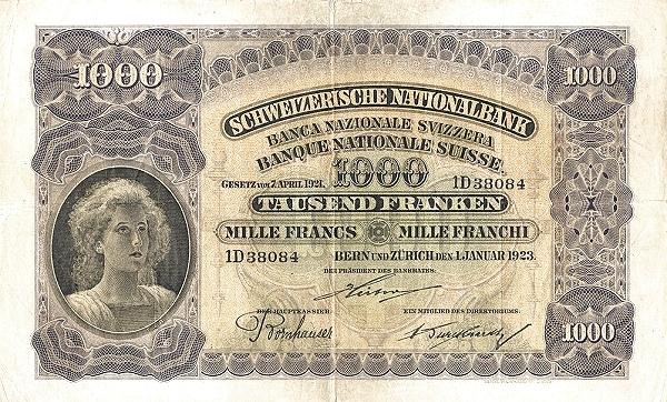 RECTO 1000 francs Type 1923