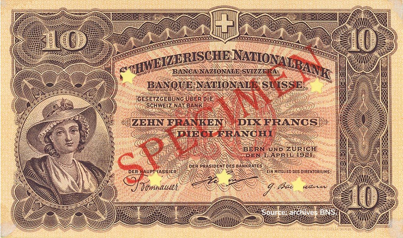 RECTO 10 francs Type 1921