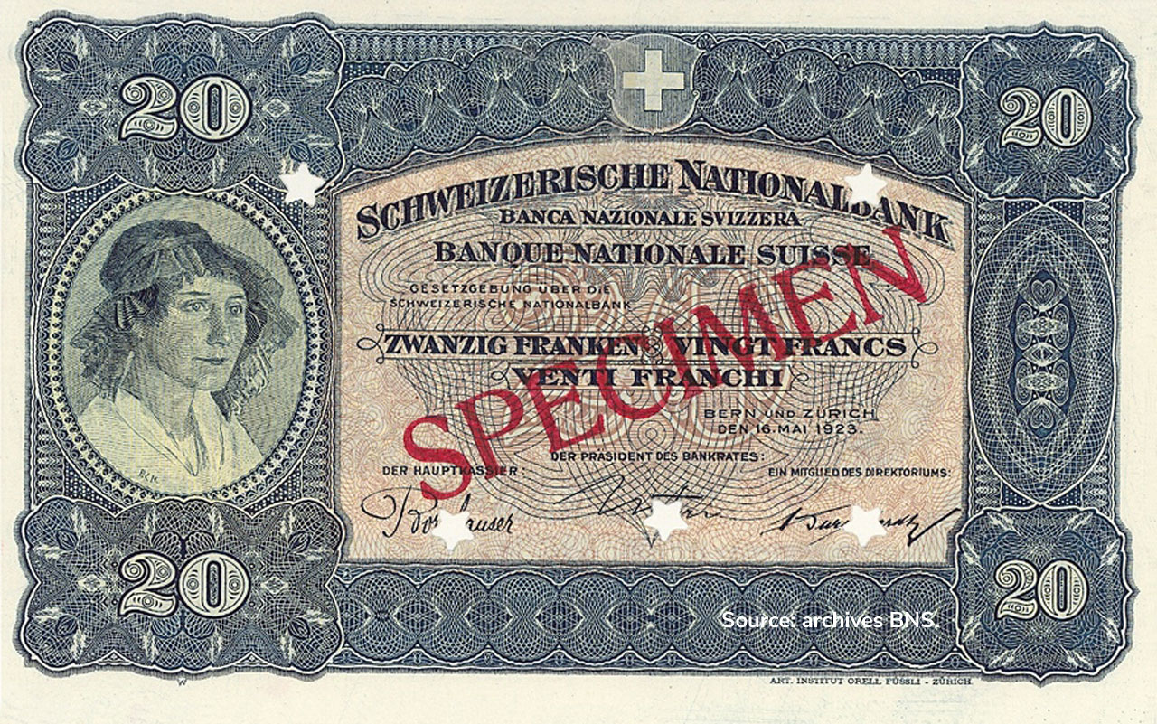 RECTO 20 francs Type 1923 not Issued