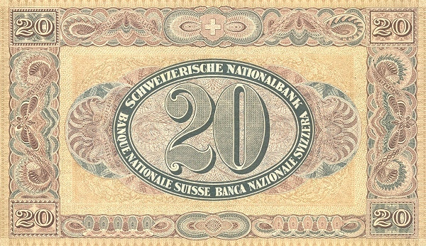 VERSO 20 francs Type 1923