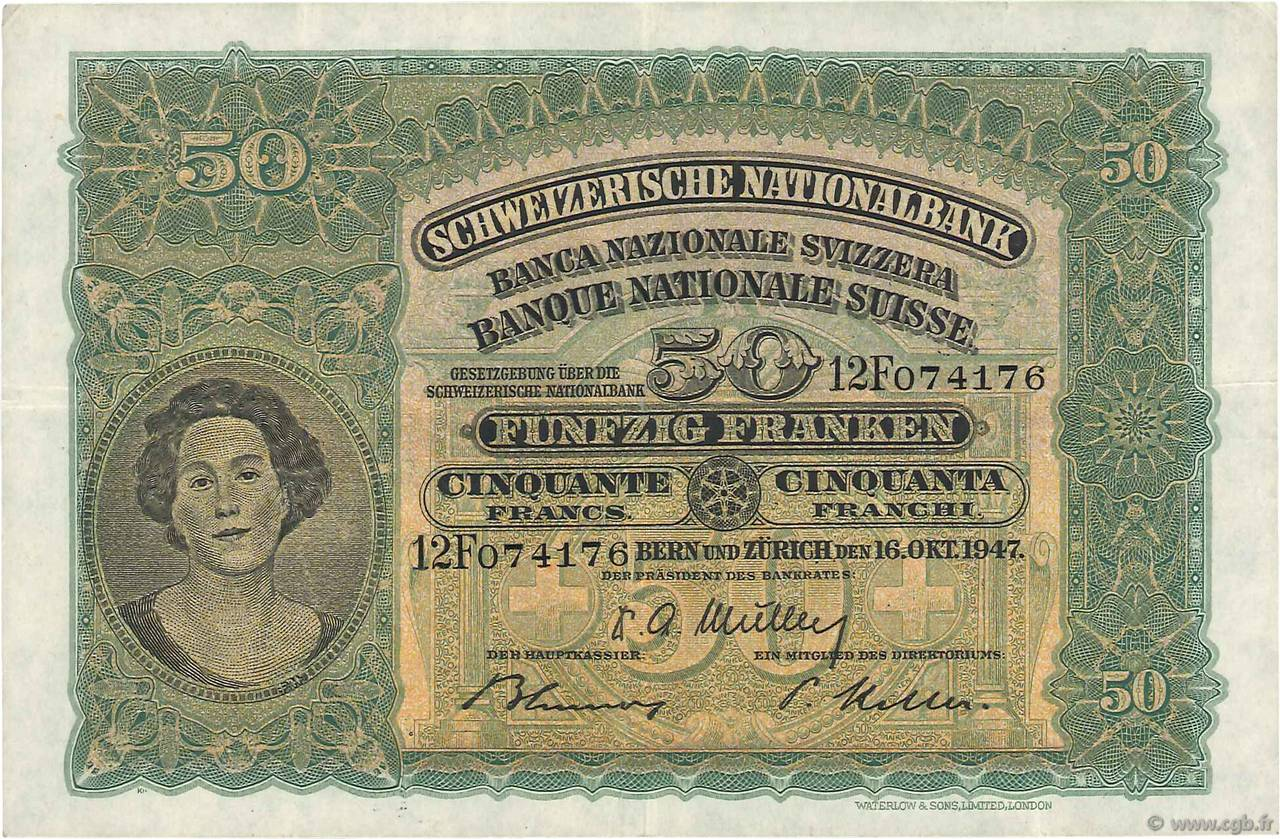 RECTO 50 francs Type 1924