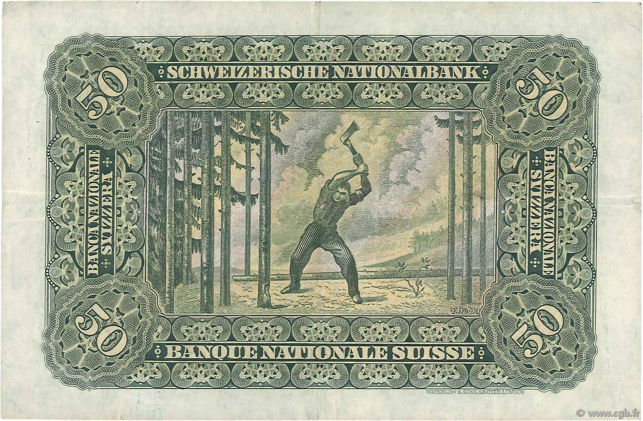 VERSO 50 francs Type 1924