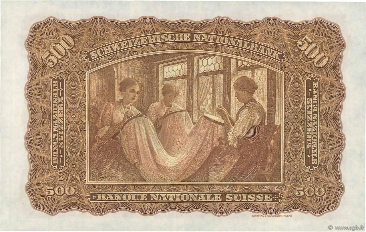VERSO 500 francs Type 1928