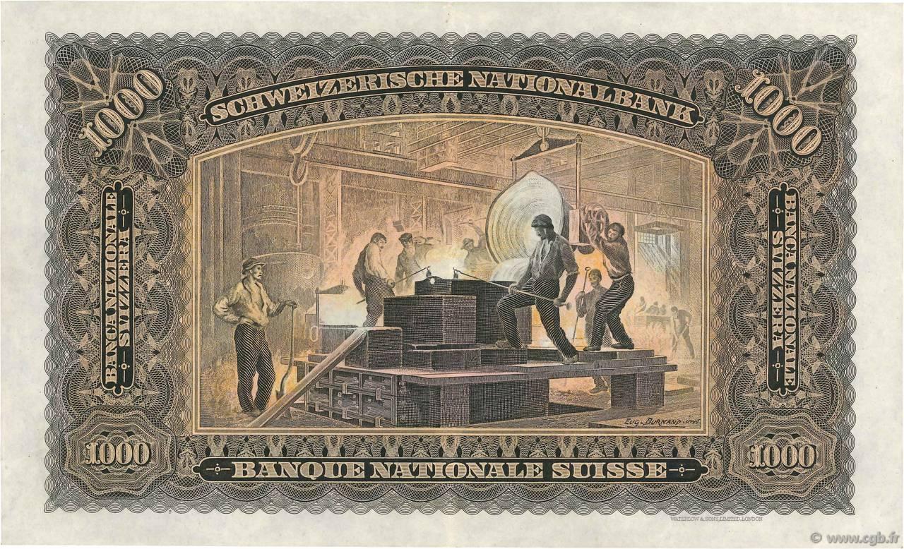 VERSO 1000 francs Type 1927